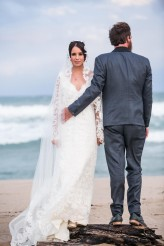 Lace Wedding Dress with Sleeves, Empire Lace Wedding dress with Sleeves