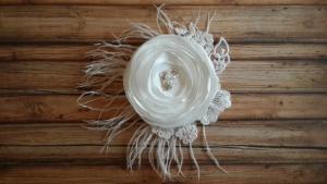 Bridal Flower Hair Clip, Bridal Flower Hair Accessories, Hand Made Bridal Hair Accessories, Custom Made Bridal Hair Acessories