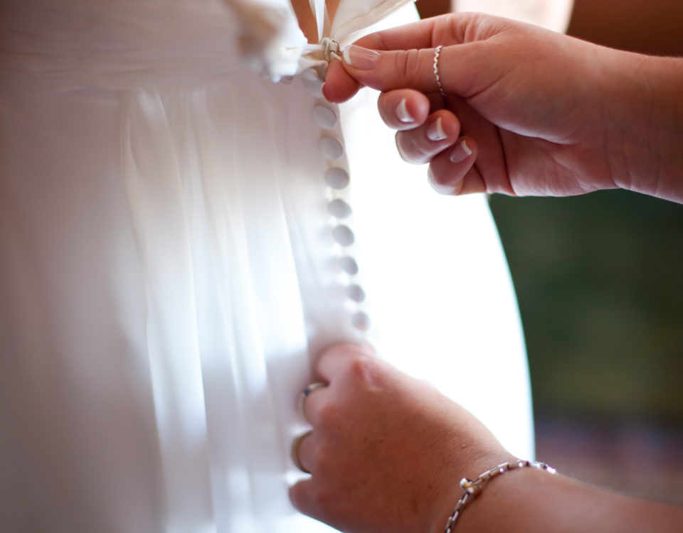 Custom Wedding Dress, Bespoke Wedding Dress, Button detail on Wedding Dress