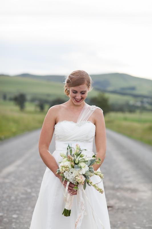 Chiffon Wedding Dress, Empire Style Wedding Dress, Diamante & Pearl Detail