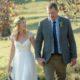 Lace cap sleeve wedding dress, ruched chiffon wedding dress, Georgette wedding dress