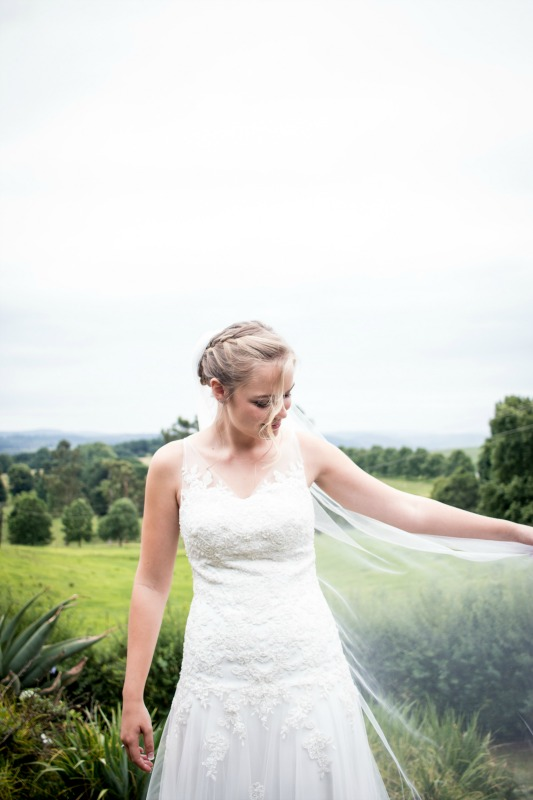 Milk white tulle wedding dress, beaded lace dropped waist bodice, illusion back with covered buttons