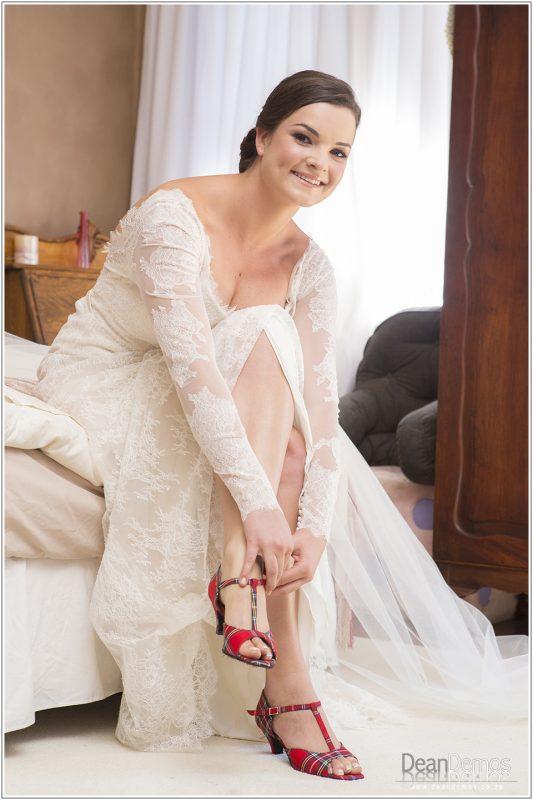 Chantilly lace wedding dress, low back wedding dress, long lace sleeve wedding dress, fitted A-line Chantilly lace wedding dress