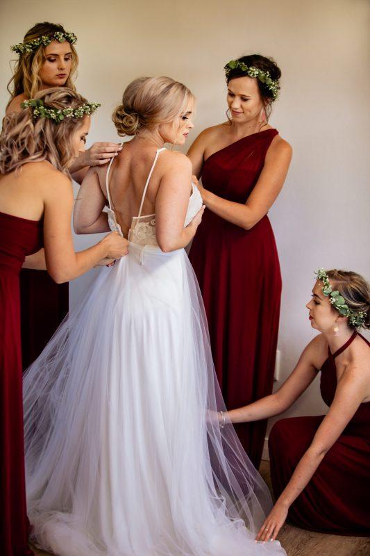Custom Payton Wedding Dress by Bespoke by Maryke, Halterneck wedding dress
